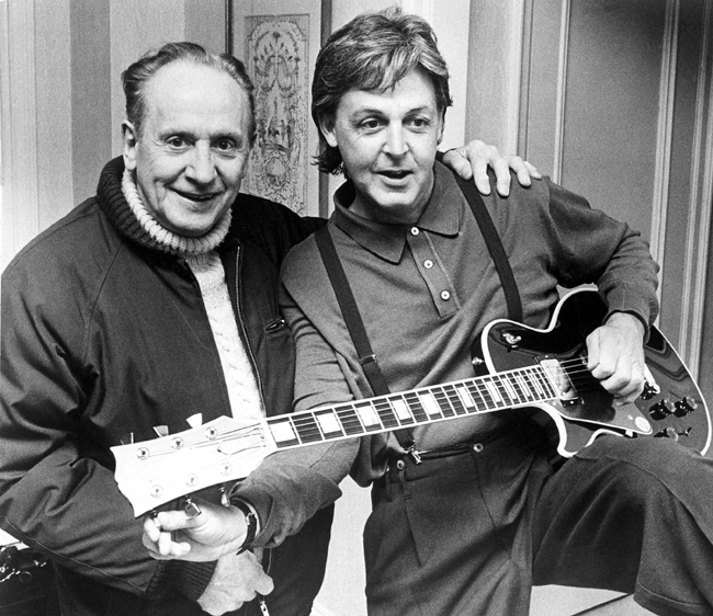 Les Paul y Paul McCartney en 1988